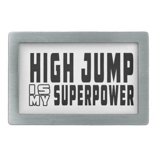 El salto de altura es mi superpotencia hebillas cinturon rectangulares