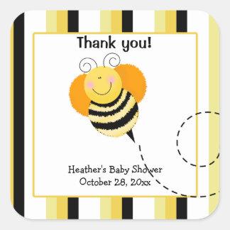 El salto de la abeja manosea a los pegatinas cuadr