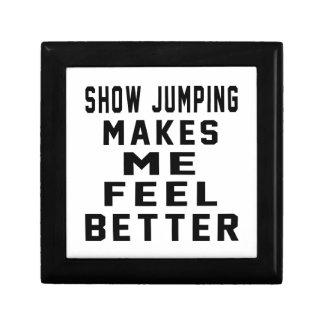 El salto de la demostración hace que siente mejor cajas de recuerdo