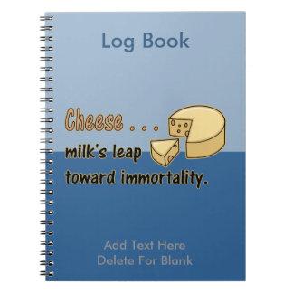 El salto de la leche del queso… hacia inmortalidad spiral notebooks