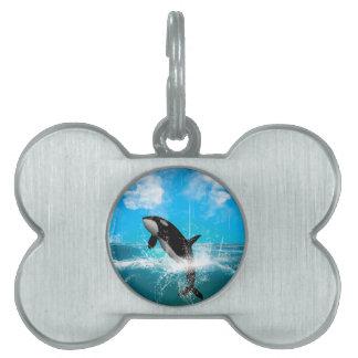 El salto de la orca placa de mascota