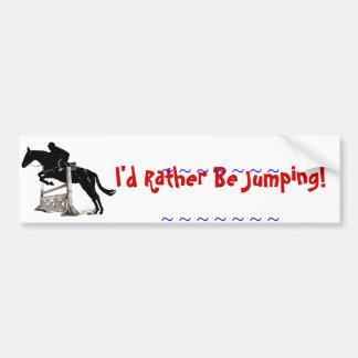 El salto del caballo etiqueta de parachoque