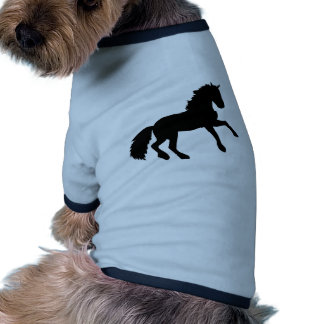 El salto del caballo camiseta con mangas para perro