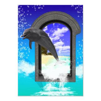 El salto del delfín invitación 12,7 x 17,8 cm