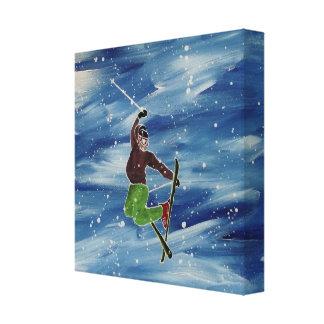 El salto del esquiador lona estirada galerías