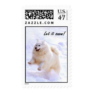 El salto del samoyedo sello postal