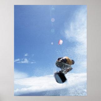 El salto del Wakeboarder Póster