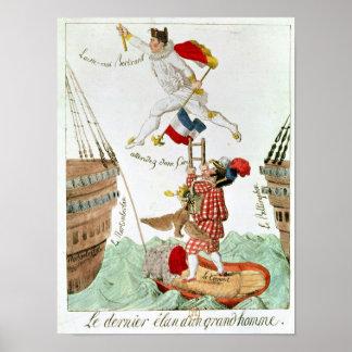 El salto pasado de un gran hombre, 1815 póster