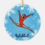 El salto Santa de GymnastChick personaliza el Ornamentos De Navidad