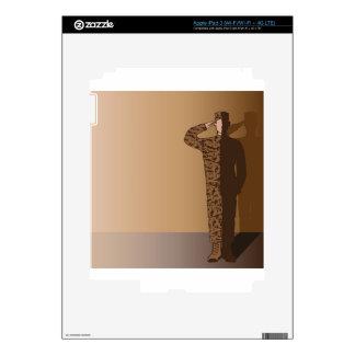 El saludar del soldado iPad 3 pegatinas skins