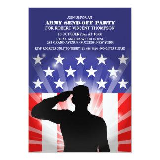 """El saludo a los militares de la bandera invitación 5"""" x 7"""""""