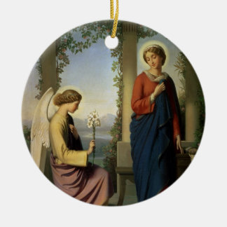 El saludo angelical, o el anuncio, 1860 adornos