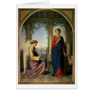 El saludo angelical, o el anuncio, 1860 tarjetón