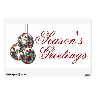 El saludo de la pared del negocio del navidad PERS