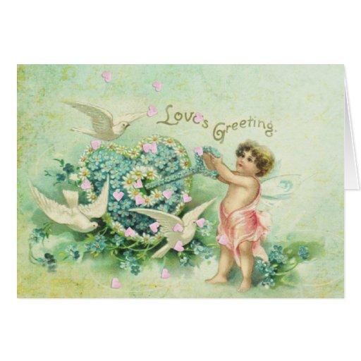 El saludo de mi tarjeta del día de San Valentín