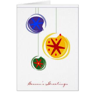 El saludo de tres bulbo-Estaciones del navidad Tarjeta De Felicitación