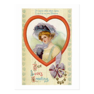 El saludo del amor verdadero tarjetas postales