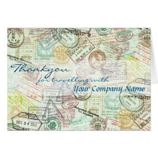 El saludo del viaje del sello del pasaporte tarjeta de felicitación