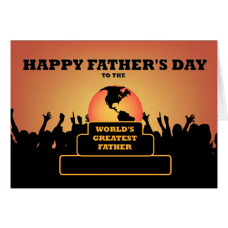 El saludo más grande del premio del día de padres tarjeta de felicitación