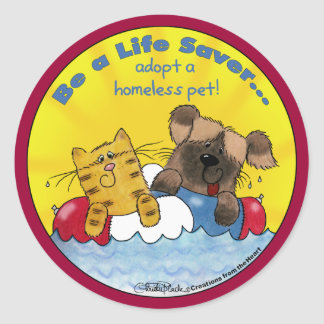 El salvador adopta a mascotas sin hogar etiquetas redondas