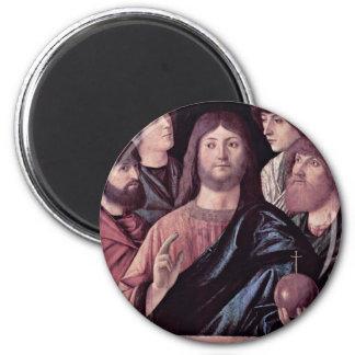El salvador bendice a cuatro apóstoles de Carpacci Imán Para Frigorifico