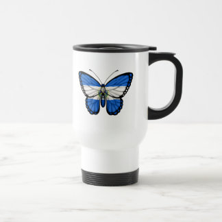 El Salvador Butterfly Flag 15 Oz Stainless Steel Travel Mug