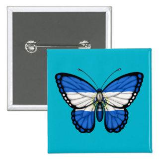 El Salvador Butterfly Flag Pinback Buttons