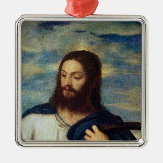 El salvador, c.1553 adorno cuadrado plateado