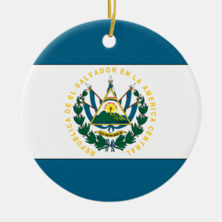 El Salvador Ceramic Ornament