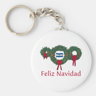 El Salvador Christmas 2 Basic Round Button Keychain