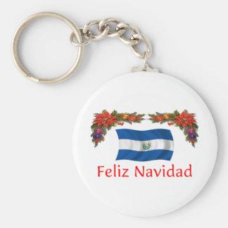 El Salvador Christmas Basic Round Button Keychain