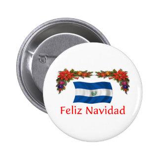 El Salvador Christmas Pinback Button