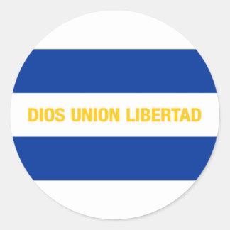 El Salvador Civil Ensign Classic Round Sticker
