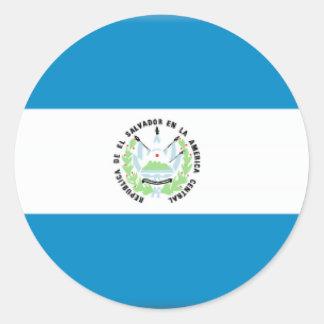 El Salvador Classic Round Sticker