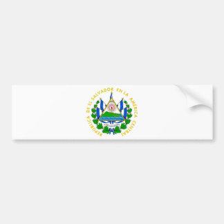 El Salvador Coat of Arms Car Bumper Sticker
