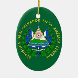 El Salvador Coat of Arms Ceramic Ornament