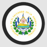 El Salvador Coat of Arms Classic Round Sticker
