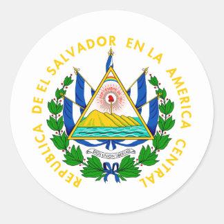 El Salvador coat of arms Classic Round Sticker