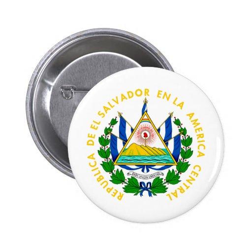 El Salvador coat of arms Pinback Button