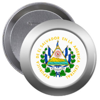 El Salvador Coat of Arms Pinback Button