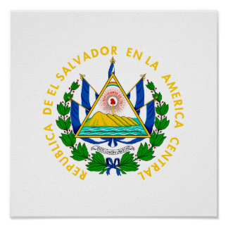 El Salvador Coat of Arms Poster