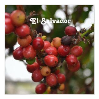 El Salvador Coffee Beans Invitations