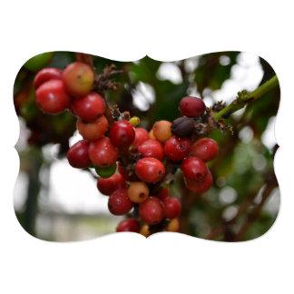 El Salvador Coffee Beans Personalized Invitation