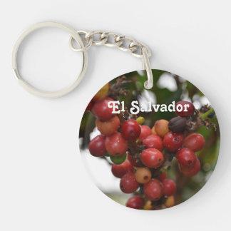 El Salvador Coffee Beans Single-Sided Round Acrylic Keychain