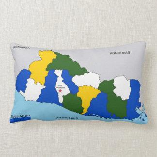 el salvador country political map flag lumbar pillow