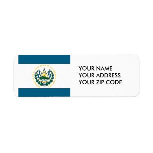 El Salvador Custom Return Address Labels