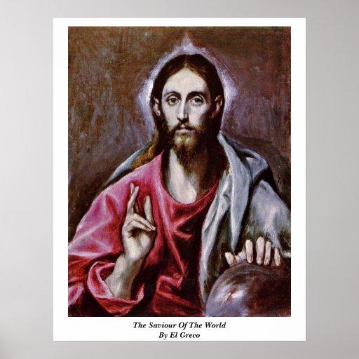 El salvador del mundo de El Greco Impresiones