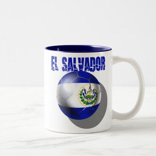 El Salvador el Brasil 2014 Futbol Cuscatlecos Taza Dos Tonos