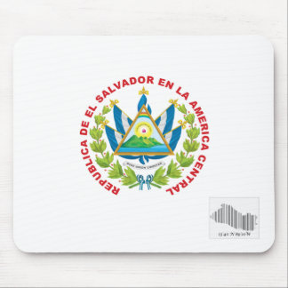 el salvador emblem and barcode mouse pad