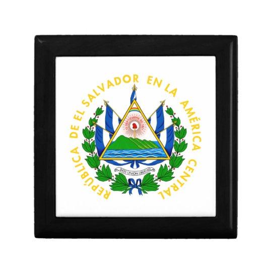 El Salvador - emblem/flag/coat of arms/symbol Keepsake Box
